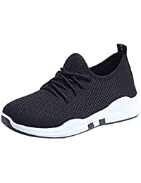 f674ca1f862 Shunsuen Shoes Women s Clearance Lightweight Sneakers Fashion Athletic  Running Walking Shoes Breathable Lace Up Shoe