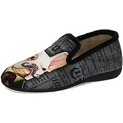 GEMA GARCIA 7509-2 Sherlock Holmes Hombre Zapatillas CASA Negro 45