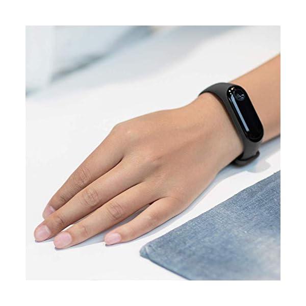 Xiaomi Mi Band 3 - Pulsera de actividad, Pantalla 0.78'' full OLED táctil, Notificaciones, Sumergible 50m, Mide calorías, pasos y sueño, Negro 7