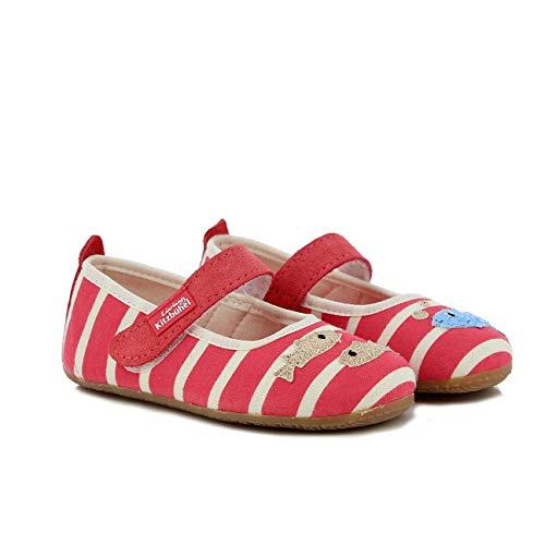 Living Kitzbühel Mädchen Ballerina Streifen & Fisch Hausschuhe, Pink (Flamingo 348), 31 EU