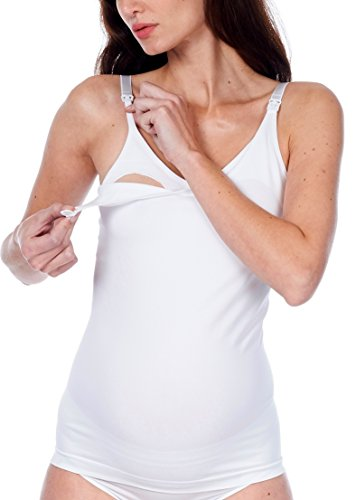 Noppies Top Sl Julia Aop 66611, Haut de Pyjama de Grossesse Femme blanc