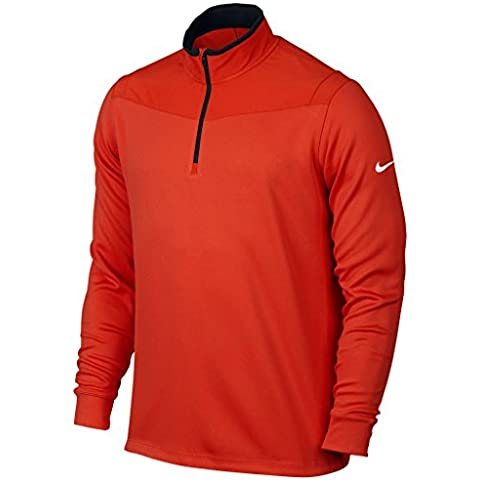 Nike Dri-Fit 1/2-Zip Ls Top - Jersey de manga larga para hombre, color negro / blanco, talla M