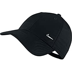 Nike Metal Swoosh Cap - Gorra para hombre, talla única, color negro