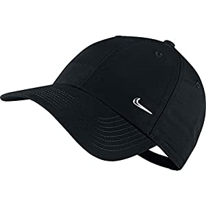 Nike Metal Swoosh Logo Casquette réglable Black/Metallic Silver FR: M (Taille Fabricant: One Size)