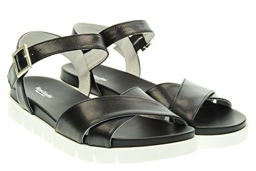 BLACK JARDINS femme sandales plates P615741D / 100 Nero