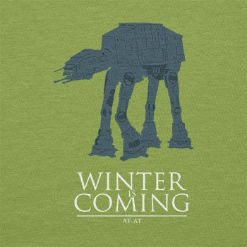 Texlab–At At Winter Is Coming–sacchetto di stoffa Verde chiaro