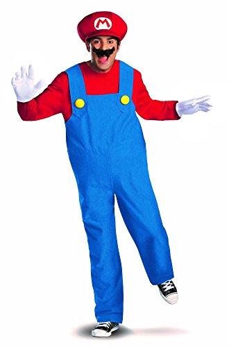 Herren-Kostüm Super MARIO Bros. Rot/Blau Bothers Verkleidung von der Marke MIMIKRY, Größe:L - Deluxe (Kostüme Brothers Luigi Deluxe Mario Herren Erwachsene)