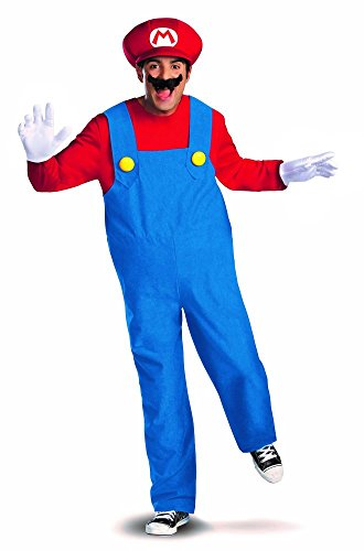 shoperama Herren-Kostüm Klempner Rot/Blau Verkleidung Overall Latzhose, Größe:XXL