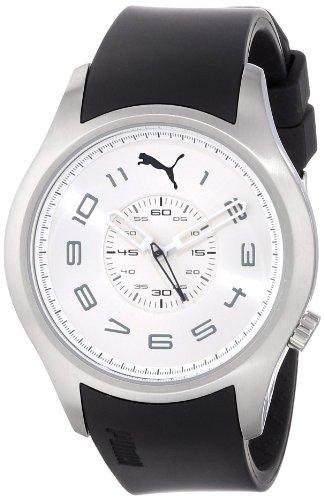 PUMA TIME PU103022002 - Reloj para mujeres, correa de goma color negro