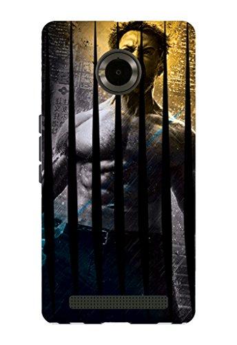 Kaira brand Designer Back Case Cover for Micromax YU Yuphoria (Wolverine Scratch)