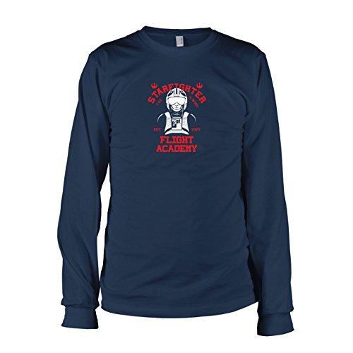 TEXLAB - X-Wing Academy - Herren Langarm T-Shirt, Größe XXL, (Starfighter X Kostüm Wing)