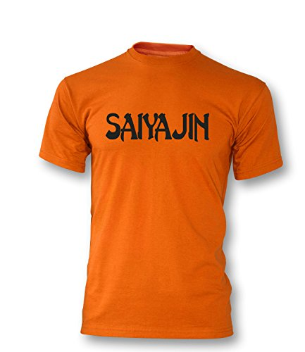 Saiyajin Herren T-Shirt Orange/Schwarz