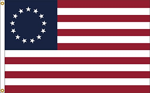 Betsy Ross uns Flagge 2FTx3FT Nylon Flagge 2x 3Made in USA 2'x3' -