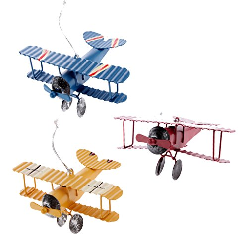 Hellery Packung Mit 3 Doppeldecker Spielzeug Air Force Modell Unter Dem Motto Flugzeug Für Kinder Jungen Mädchen Geschenk (Für Kinder Flugzeug-modell)