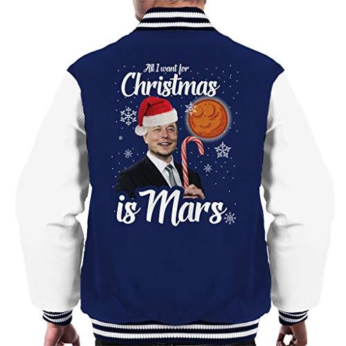 Cloud City 7 Elon Musk All I Want for Christmas is Mars Men\'s Varsity Jacket