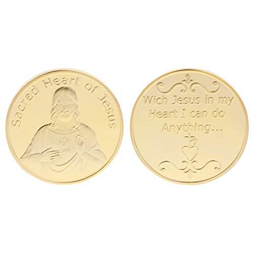 Exing Sammlermünzen Münze, Jesus Segne Gott Silber Gold Collection Souvenir Geschenke Kunsthandwerk Sammlerstücke Münzen (Sammlerstück Münzen Gold)