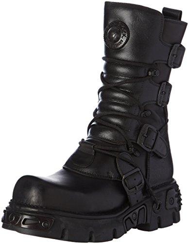 New RockM 373 S18 - Stivali Unisex - Adulto , Nero (Black (nero)), 38