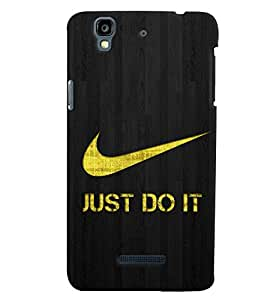 TOUCHNER (TN) Just Do It Back Case Cover for MICROMAX YUREKHA