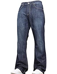 BNWT New Mens Bootcut Flared Wide Leg Bell Bottom Blue Denim Jeans Pants Big King Size All Waist Sizes
