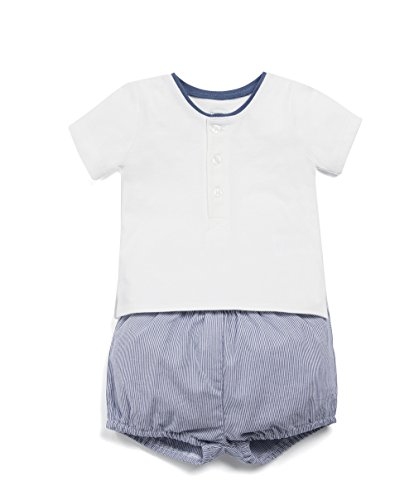 Mamas   Papas Tee and Seersucker Short Set, Ensemble Bébé garçon, Bleu (Blue 25097a1d638