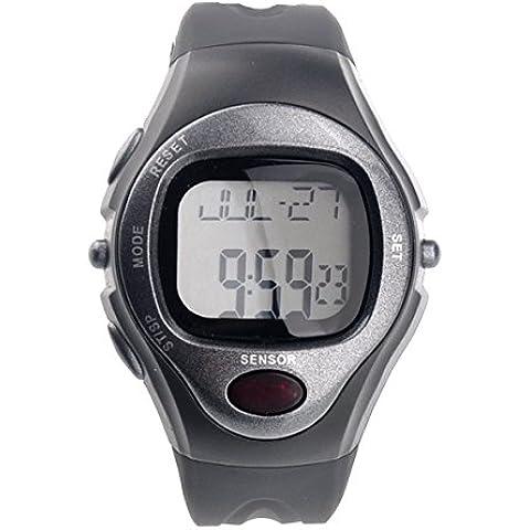 PIXNOR R022M impermeabile per lo sport della frequenza cardiaca contacalorie Orologio da polso Digital monitor (Grigio)