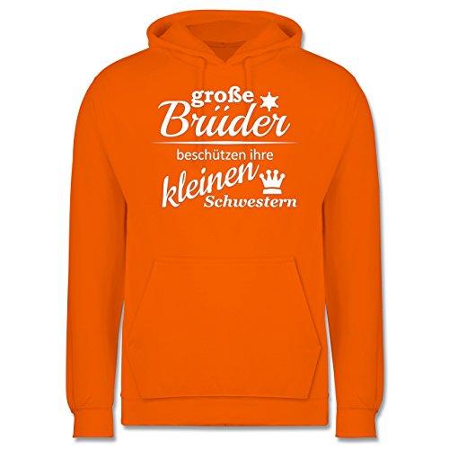 Sprüche - Große Brüder - Männer Premium Kapuzenpullover / Hoodie Orange