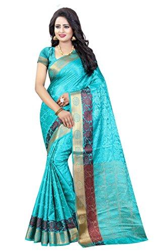 Vatsla Enterprise Women\'s Cotton silk Saree (VSIAN008RAMA_RAMA)