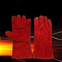 elegantstunning Resistente all  Usura Guanti da Lavoro in Pelle Doppio  Strato Uomini Lavoro Saldatura Guanti 0678470c1705