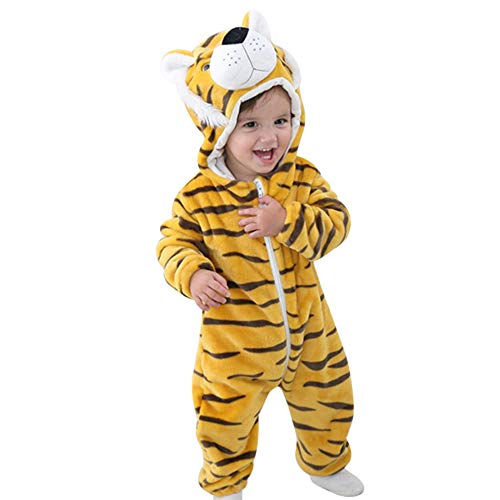 Bonboho Baby Unisex Pyjamas Kostüm Jumpsuit Overall Schlafanzug Cosplay Cartoon Nachtwäsche Flanell Strampelanzug