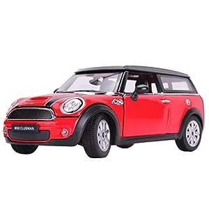Rastar 37400 Voiture statique BMW Mini CLUBMAN Miniature Echelle 1:24 Rouge