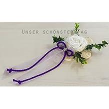 4 6 x Aufleger Tischdekoration hellblau zur Hochzeit Taufe Tischdeko TD0064