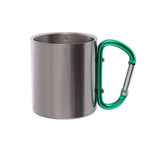 BESPORTBLE Campingausrüstung Metall Tasse Klettern Taste Karabiner Aluminiumlegierung für Outdoor Camping (Grün)