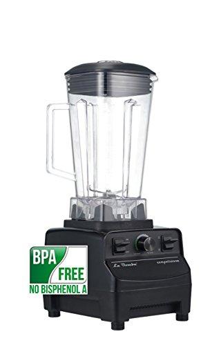 Mixer La Bomba® Competizione II, Hochleistungsstandmixer, Smoothiemaker, Ice Crusher, nero/schwarz, 38000 rpm