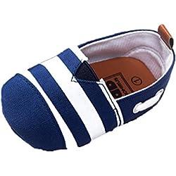 Tefamore Zapatos Bebe para Primeros caminantes Niños Pequeños (Tamaño:1, Azul)