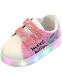 Zapatos de bebé, ASHOP Niña Niño Moda Casuales Cat Letter Heart Print Led Luz Zapatos del Otoño Invierno Deporte Antideslizante del Zapatos de Malla 3-9 Años