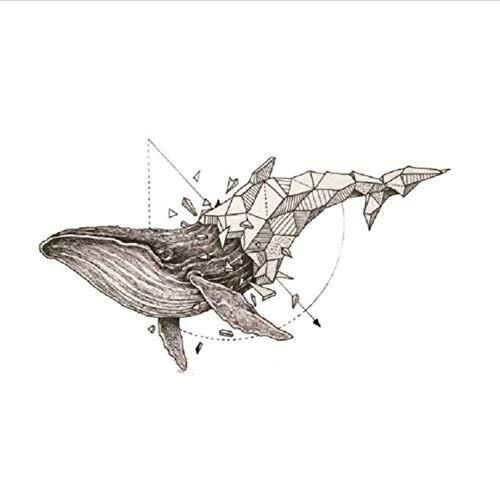ruofengpuzi Wassertransport Fake Tattoo Whale Mit Pfeil Schmuck Sexy Wasserdicht Temporäre Tätowierung Flash Tattoo Frau (Flash Kostüm Pfeil)