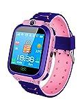 DZKQ Orologio Intelligente Impermeabile Bambini Del Bambino Intelligente Orologio Card Orologio Chiamata Posizione Tracker,pink