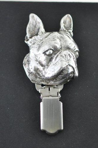 Boston Terrier, Hund clipring, Hundeausstellung Ringclip/Rufnummerninhaber, limitierte Auflage, Artdog - 2