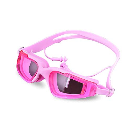 LBXMLX Adult Goggles No Leakage, Anti-Fog, UV Protection, 180 Degree Vision and Soft Silicone Nose Goggles, Men's and Women's Children@Pink