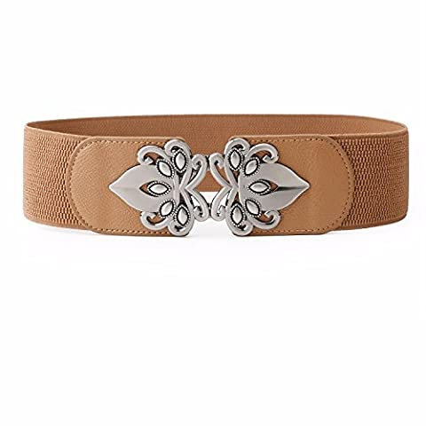 SAIBANGZI Womens Vintage Wide Elastic Stretch Waist Belt Retro Cinch Belt