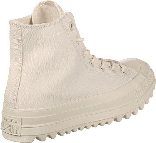 Converse Ctas Lift Ripple Salut Naturel, Sneaker Un Collo Alto Unisexe - Adulto Beige (naturel)