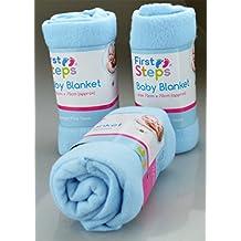 Punto de cruz para niños Tamaño de los peldaños Lote de 2 con forro polar de mantas de bebé y pantalla a juego para A carrito de paseo, de casa, ...