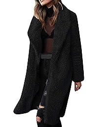 FELZ Abrigos Mujer Invierno Abrigo Chaqueta de Invierno de Solapa de Piel sintética para Mujer Abrigo