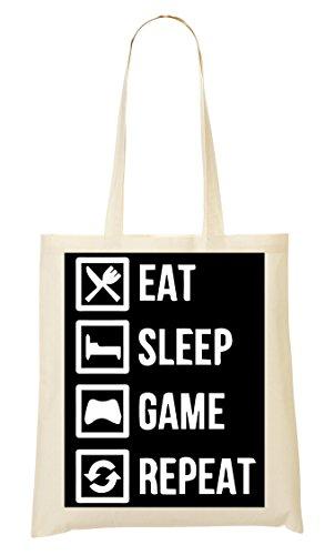 Eat Sleep Game Repeat Gamming Sac Fourre-Tout Sac À Provisions