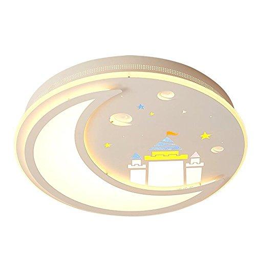 Deckenleuchten - - 36 W, runde LED-Patch Bügeleisen Decke lampen Kinderzimmer Licht 55*10 cm Energieeffizienz: A+++ (Farbe: 3-color Dimmen) (Runde-flash-laufwerk)