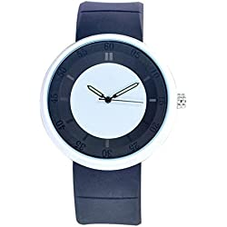 OUMOSI Unisex Quartz Waterproof Watch PU Strap Luminous Pointer Wristwatch