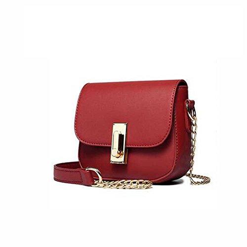 WZW Einfache Kette Tasche Schultertasche Messenger Bag Red