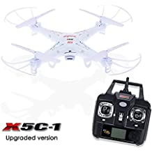 Syma X5C-1 Explorers 2.4G 6 Axis 4 CH Gyro RC Control Remoto Quadcopter Drone with Cámara 2017 Versión Toys Blanco