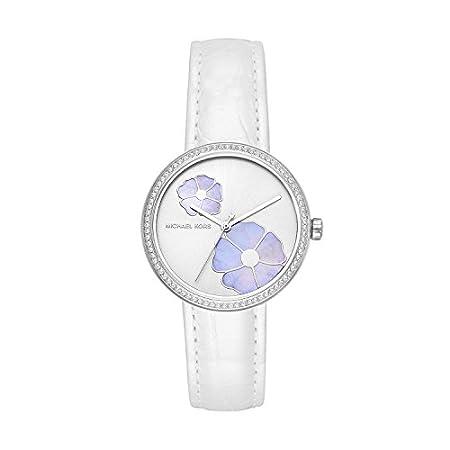 Michael Kors Damen Analog Quarz Uhr mit Leder Armband MK2716