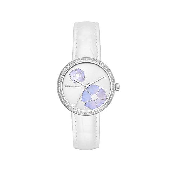 41 2edLWcML. SS555  - Michael Kors Damen Analog Quarz Uhr mit Leder Armband MK2716